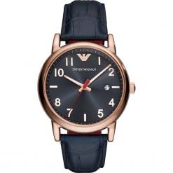 Zegarek EMPORIO ARMANI - Luigi AR11135 Blue/Rose Gold. Szare zegarki damskie marki Emporio Armani, l, z dzianiny. Za 849,00 zł.