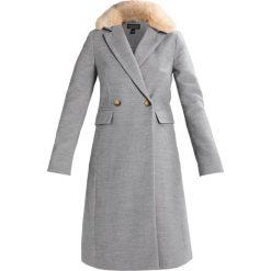 Płaszcze damskie: Topshop COLLAR TUCK WAIST  Płaszcz wełniany /Płaszcz klasyczny grey marl