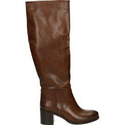 Kozaki - 314M-B-101CJ8. Brązowe buty zimowe damskie Venezia, ze skóry. Za 599,00 zł.