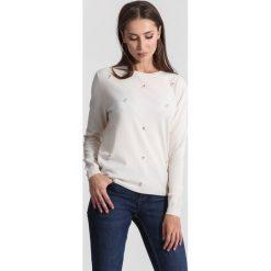 Kremowy Sweter Tiny Stones. Brązowe swetry klasyczne damskie other, na jesień, xl. Za 69,99 zł.