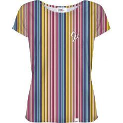 Colour Pleasure Koszulka damska CP-034 264 żółto-niebieska r. XS/S. Różowe bluzki damskie marki Colour pleasure. Za 70,35 zł.