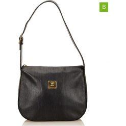 Torebki klasyczne damskie: Skórzana torebka w kolorze czarnym – 25 x 22 x 10 cm