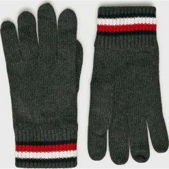 Tommy Hilfiger - Rękawiczki. Czarne rękawiczki męskie TOMMY HILFIGER, z bawełny. Za 179,90 zł.