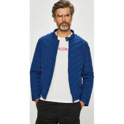 Guess Jeans - Kurtka. Szare kurtki męskie jeansowe Guess Jeans, l, z aplikacjami. Za 699,90 zł.