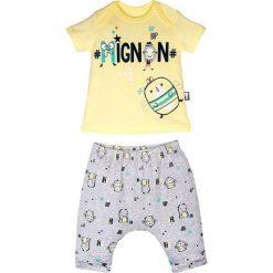 Spodnie niemowlęce: 2-częściowy zestaw w kolorze żółtym i szarym
