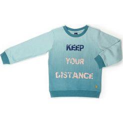 Bluza w kolorze turkusowym. Niebieskie bluzy chłopięce marki Street Monkey, z bawełny. W wyprzedaży za 69,95 zł.