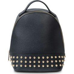 Plecaki damskie: Mały plecak z ćwiekami bonprix czarno-srebrny kolor