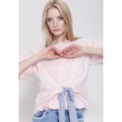 Bluzki asymetryczne: Różowa Bluzka Milord