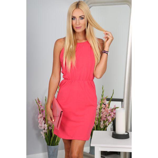 e688ca5f6205 Koralowa Sukienka 2578 - Pomarańczowe sukienki damskie marki Fasardi ...