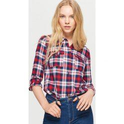 Koszula w kratę - Czerwony. Czerwone koszule damskie marki Cropp, l. Za 49,99 zł.