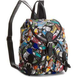Plecaki damskie: Plecak NYLON RED – RC13503  Czarny Kolorowy