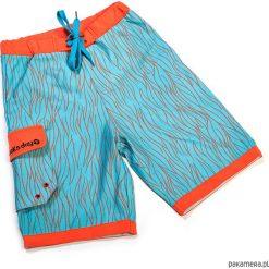 Spodenki plażowe i kąpielowe UV 50+ Swirl. Czerwone kąpielówki chłopięce marki Pakamera, z dzianiny. Za 149,00 zł.