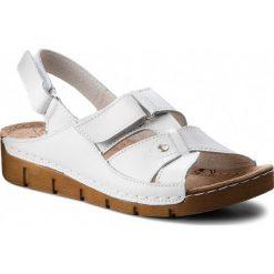 Sandały damskie: Sandały ŁUKBUT – 554 Biały
