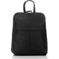 Plecaki damskie: BEVERLY skórzany plecak damski Czarny