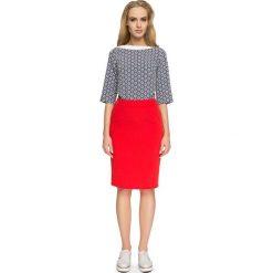 NYCOLE Spódniczka ołówkowa - czerwona. Czerwone spódnice wieczorowe Stylove, w paski, midi, dopasowane. Za 99,00 zł.
