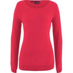 Sweter bonprix czerwony. Czerwone swetry klasyczne damskie marki bonprix. Za 54,99 zł.