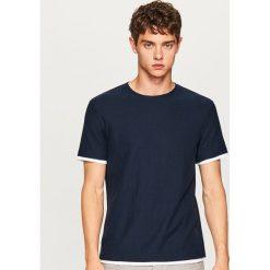 Sweter z krótkim rękawem - Granatowy. Niebieskie swetry klasyczne męskie Reserved, l. W wyprzedaży za 39,99 zł.