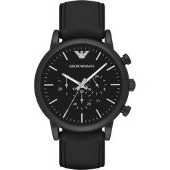 Emporio Armani - Zegarek AR1970. Szare zegarki męskie marki Emporio Armani, l, z nadrukiem, z bawełny, z okrągłym kołnierzem. Za 1249,00 zł.