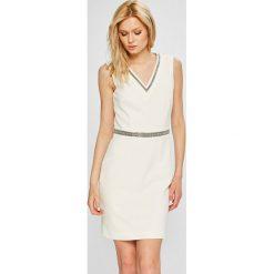 Morgan - Sukienka. Szare sukienki mini marki Morgan, na co dzień, z elastanu, casualowe, dopasowane. W wyprzedaży za 329,90 zł.