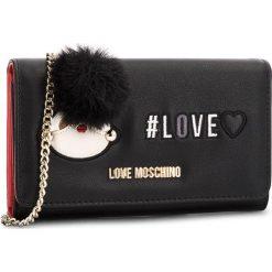Duży Portfel Damski LOVE MOSCHINO - JC5537PP16LK0000 Nero. Czarne portfele damskie marki Love Moschino, ze skóry ekologicznej. Za 529,00 zł.