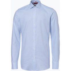 Finshley & Harding - Koszula męska łatwa w prasowaniu, niebieski. Czarne koszule męskie na spinki marki Finshley & Harding, w kratkę. Za 89,95 zł.