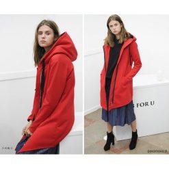 EveryDay red Coat Bluza długa. Niebieskie długie bluzy damskie marki Pakamera, z bawełny. Za 259,00 zł.