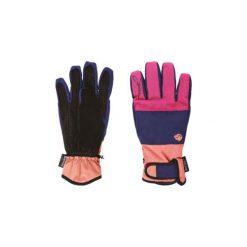 Rękawiczki damskie: IGUANA Rękawiczki damskie ANOLA W granatowo-magenta-kremowe r. L/XL