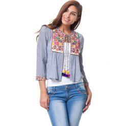 Bluzki asymetryczne: Bluzka w kolorze niebieskim
