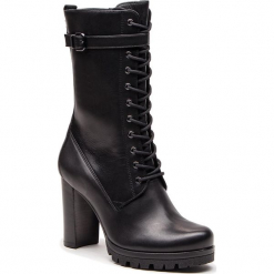 Kozaki HÖGL - 6-107813 Black 0100. Czarne buty zimowe damskie marki HÖGL, z materiału. Za 859,00 zł.