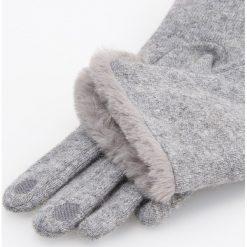 Rękawiczki z wełną - Szary. Szare rękawiczki damskie Reserved, z wełny. Za 49,99 zł.