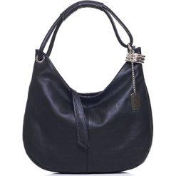 Torebki klasyczne damskie: Skórzana torebka w kolorze czarnym – 38 x 34 x 10 cm