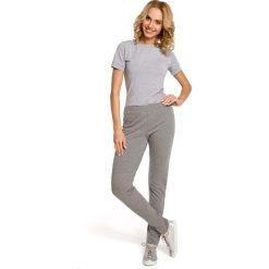 Spodnie dresowe damskie: Szare Dresowe Spodnie z Dzianiny