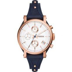 Zegarek FOSSIL - Original Boyfriend ES3838 Blue/Rose Gold. Niebieskie zegarki damskie Fossil, ze stali. Za 699,00 zł.