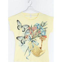 Bluzki damskie: Żółty T-shirt I'm Still Remembering