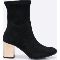 Tommy Hilfiger - Botki Melis. Czarne buty zimowe damskie TOMMY HILFIGER, z materiału. W wyprzedaży za 479,90 zł.