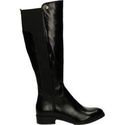 Kozaki ocieplane - 1480BP PEL NE. Czarne buty zimowe damskie marki Kazar, ze skóry, na wysokim obcasie. Za 249,00 zł.