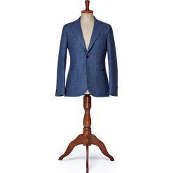 Marynarka Niebieska MR.Englishman. Niebieskie marynarki męskie slim fit marki LANCERTO, z tkaniny. W wyprzedaży za 699,00 zł.
