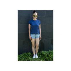 T-shirt Prosta Historia granatowy. Niebieskie t-shirty damskie Mktp mój kraj taki piękny, s, z bawełny. Za 89,00 zł.