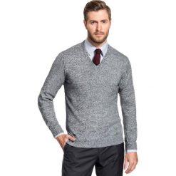 Sweter FABRIZIO SWWR000142. Szare swetry klasyczne męskie Giacomo Conti, na jesień, m, z bawełny, dekolt w kształcie v. Za 149,00 zł.