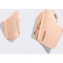 Kolczyki damskie: MANGO Asymetryczne kolczyki – Gold