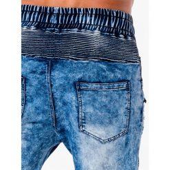 SPODNIE MĘSKIE JOGGERY P675 - NIEBIESKIE. Niebieskie joggery męskie marki Ombre Clothing, z bawełny. Za 89,00 zł.