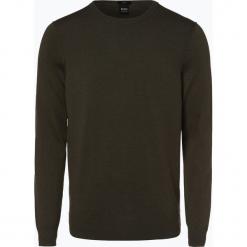 BOSS Casual - Sweter męski z dodatkiem kaszmiru – Kwasiros, zielony. Zielone swetry klasyczne męskie BOSS Casual, m, z kaszmiru. Za 179,95 zł.
