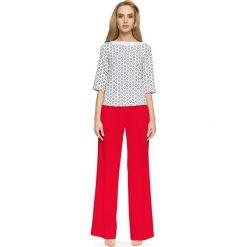 ELAINA Spodnie z szerokimi nogawkami - czerwone. Czerwone spodnie z wysokim stanem Stylove. Za 139,99 zł.