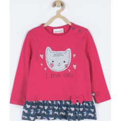 Koszulka. Czerwone bluzki dziewczęce bawełniane marki LOVE CATS, z napisami. Za 49,90 zł.
