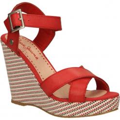 SANDAŁY PEPE JEANS PLS90084. Różowe sandały damskie Pepe Jeans, z jeansu. Za 189,99 zł.