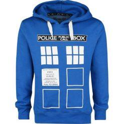 Doctor Who Police Box Bluza z kapturem granatowy. Niebieskie bejsbolówki męskie Doctor Who, xl, z nadrukiem, z kapturem. Za 121,90 zł.