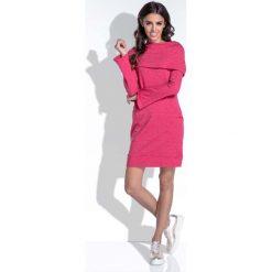 Sukienki: Amarantowa Komfortowa i Kobieca Sukienka Mini