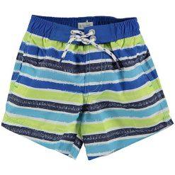 Spodnie niemowlęce: Szorty kąpielowe w kolorze niebiesko-jaskrawożółtym