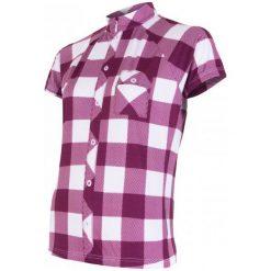 Sensor Damska Koszulka Rowerowa Cyklo Square Purple. Fioletowe bluzki sportowe damskie marki Sensor, z gumy, z krótkim rękawem. Za 179,00 zł.