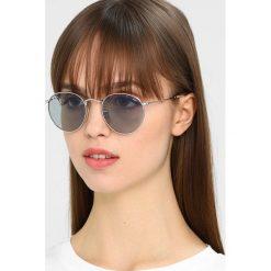 RayBan ROUND METAL Okulary przeciwsłoneczne silver photo blue. Szare okulary przeciwsłoneczne damskie lenonki marki Ray-Ban. Za 719,00 zł.